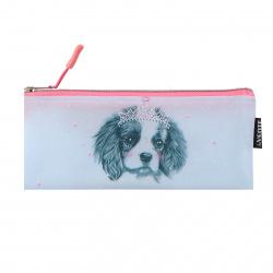 Пенал силикон, 1 отделение, косметичка, 90*210мм, пакет Dog Princess deVENTE 7024110