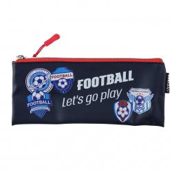Пенал силикон, 1 отделение, косметичка, 90*210мм, пакет Football deVENTE 7024116