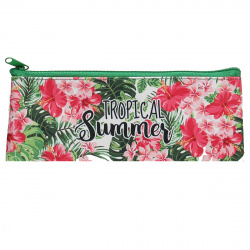 Пенал косметичка ткань 1 отделение 19*7 Тропическое лето Оникс ПМП 07-20 60779