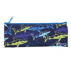 Пенал косметичка ткань 1 отделение 19*7 Цветные акулы Оникс ПМП 07-20 63091