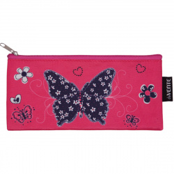 Пенал косметичка ткань 1 отделение 20*9 Flower Butterfly deVENTE 7024900