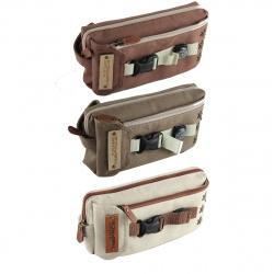 Пенал прямоугольный, ткань, 1 отделение, 100*200*60мм, 2 внешних кармана, ассорти 3 вида Твой стиль КОКОС 189322 LI XIN