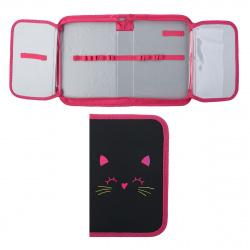 Пенал картон SoftТouch 1 отделение 20*13*4 2 откидные планки Cat neon КОКОС ПО-42/206337