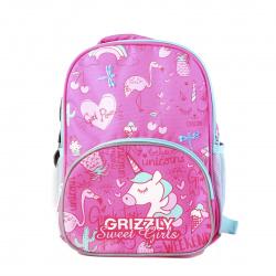 Рюкзак детский полиэстер 1 отделение 22*30*11 Grizzly RK-076-3 розовый