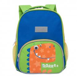 Рюкзак детский, полиэстер, 1 отделение, спинка мягкая EVA, 220*300*110мм Grizzly RK-076-6