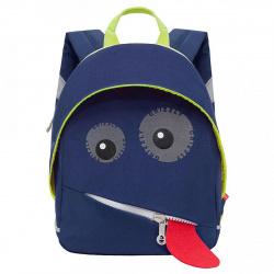 Рюкзак детский полиэстер 1 отделение 22*30*11 Grizzly RK-075-1 синий