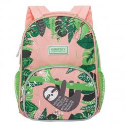 Рюкзак детский полиэстер 1 отделение 22*30*11 Grizzly RK-076-4 розовый