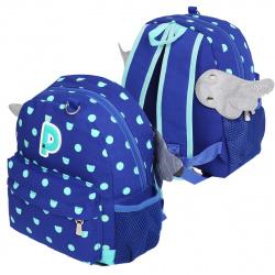 Рюкзак детский ткань 1 отделение 24*31*10 Крылья КОКОС 17143 синий
