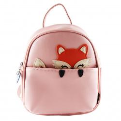 Рюкзак детский кожзам 1 отделение 18*23*8 Cute Fox deVENTE 7032103 пудровый