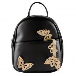 Рюкзак детский кожзам 1 отделение 18*23*8 Golden Butterfly deVENTE 7032100 черный