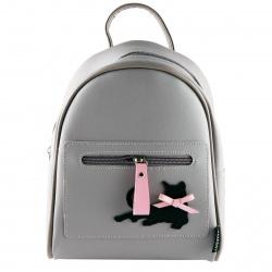 Рюкзак детский кожзам 1 отделение 18*23*8 Black Cat deVENTE 7032101 сиренево-серый