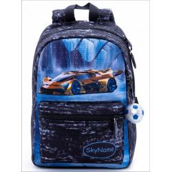 Рюкзак детский, полиэстер, 1 отделение, спинка мягкая EVA, 200*300*100мм SkyName 1104