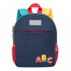 Рюкзак детский полиэстер 1 отделение 20*26*10 Grizzly RK-077-2 темно-синий