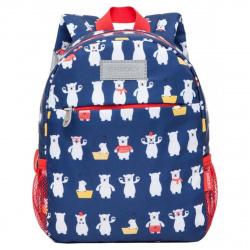 Рюкзак детский полиэстер 1 отделение 20*26*10 Белые медведи Grizzly RK-077-5