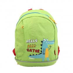 Рюкзак детский полиэстер 1 отделение 26*30*12 Grizzly RK-078-1 салатовый