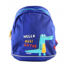 Рюкзак детский полиэстер 1 отделение 26*30*12 Grizzly RK-078-1 синий
