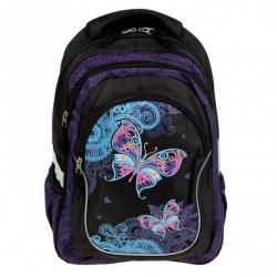 Рюкзак ткань ортопедическая спинка 2 отделения 30*42*14 Magic Butterfly Erich Krause 42486 черный