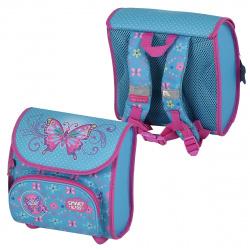 Рюкзак детский ткань 1 отделение 22*22*12 Искрящиеся бабочки каркас Tiger SKCM18-A04