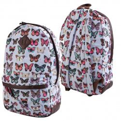 Рюкзак ткань 1 отделение 30*42*14 deVENTE 7032603 голубой с бабочками