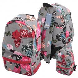 Рюкзак ткань 1 отделение 28*45*14 deVENTE 7032770 серый
