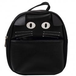 Рюкзак детский кожзам 1 отделение 19*22*9 Black Cat deVENTE 7032002 черный