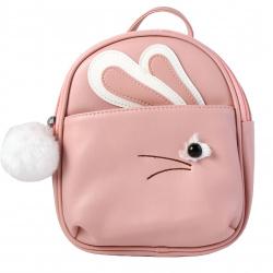 Рюкзак детский кожзам 1 отделение 20*22*8 Rabbit deVENTE 7032000 розовый