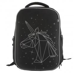 Рюкзак полиэстер, спинка эргономичная, 2 отделения, 260*360*140мм, черный Grizzly RG-165-1