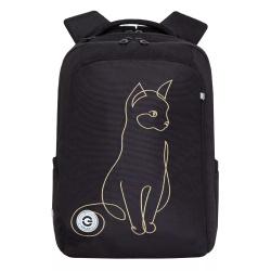 Рюкзак нейлон эргономичная спинка 2 отделения 26*38*14 Grizzly RG-966-2 серый