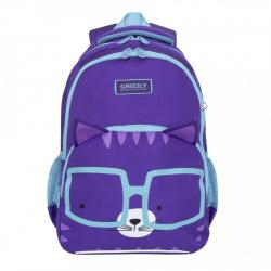 Рюкзак полиэстер эргономичная спинка 2 отделения 28*38*16 Grizzly RG-966-2 фиолетовый