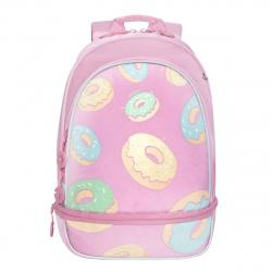 Рюкзак полиэстер, спинка эргономичная, 1 отделение, 300*400*160мм, розовый Grizzly RG-069-1