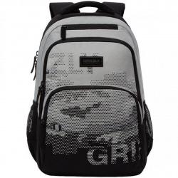 Рюкзак полиэстер эргономичная спинка 2 отделения 30*44*14 Grizzly RU-130-1 серый