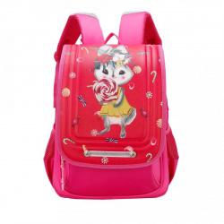 Рюкзак полиэстер, спинка эргономичная, 1 отделение, 260*360*120мм, фуксия Grizzly RA-977-1