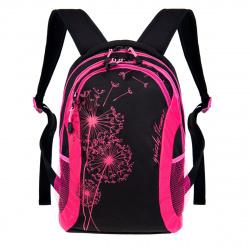 Рюкзак полиэстер мягкая спинка EVA 2 отделения 31*43*18 Grizzly RD-636-1 черный жимолость