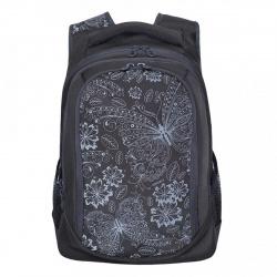 Рюкзак полиэстер, спинка эргономичная, 3 отделения, 280*410*140мм, черный Grizzly
