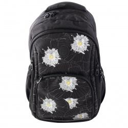 Рюкзак полиэстер, спинка эргономичная, 2 отделения, 280*420*140мм, черный Grizzly RD-143-1