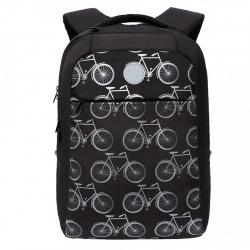 Рюкзак полиэстер, спинка мягкая EVA, 2 отделения, 280*380*120мм, черный Grizzly