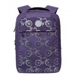 Рюкзак полиэстер, спинка мягкая EVA, 2 отделения, 280*380*120мм, фиолетовый Grizzly RD-144-2