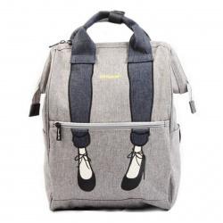 Рюкзак спинка мягкая, 1 отделение, 280*400*170мм, серый HIMAWARI 205890