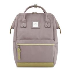 Рюкзак спинка мягкая EVA, 1 отделение, 300*400*150мм, кабель c разъемом USB, серый/зеленый HIMAWARI 210509