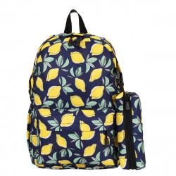 Рюкзак ткань мягкая спинка 1 отделение 28*40*12 пенал EveryDay Lemon КОКОС 206277