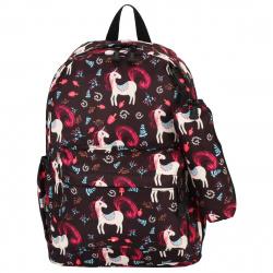 Рюкзак ткань мягкая спинка 1 отделение 28*40*12 пенал EveryDay Единорог КОКОС 206280