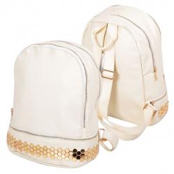 Рюкзак кожзам 1 отделение 26*34*16 Saucy КОКОС 17206-18/DD-305 белый