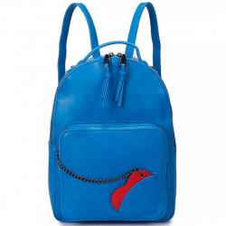 Рюкзак кожзам 1 отделение 22*30*12 OrsOro DW-844 небесно-голубой