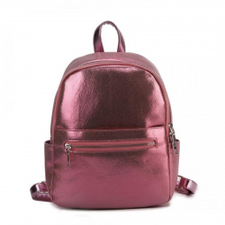 Рюкзак кожзам 1 отделение 22*30*10 OrsOro DS-993 розовый глиттер