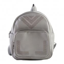 Рюкзак кожзам 1 отделение 22*28*10 deVENTE 7032971 т. серый