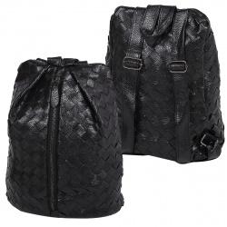 Рюкзак кожзам 1 отделение 24*36*14 Сплетение КОКОС 180879 черный