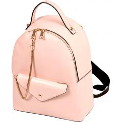 Рюкзак кожзам 1 отделение 22*28*10 deVENTE 7034074 бежевый/розовый