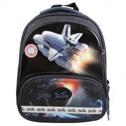 Ранец спинка ортопедическая EVA, 2, отделение для ноутбука, 280*360*160мм, сумка для сменной обуви, пенал без наполнения, электронные часы De Lune 9-126