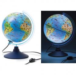 Глобус 250мм зоогеографический Классик Евро 12500270 с подсветкой