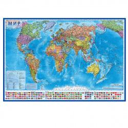 Карта Мира полит 1:28млн 80*118см интерактивная ламин КН045